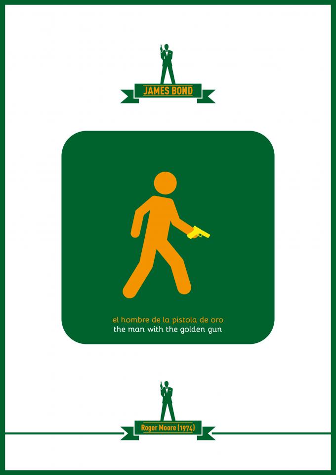 cartel pelicula james bond el hombre de la pistola de oro